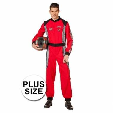 Grote maat formule 1 coureur kostuum heren