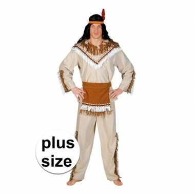 Grote maat indiaan adahy verkleed kostuum heren