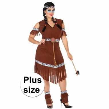Grote maat indianen nahele verkleed pak/kostuum dames