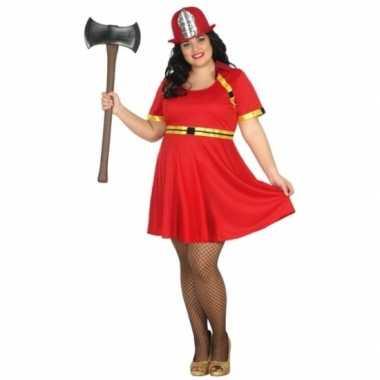 Grote maten brandweer kostuum dames