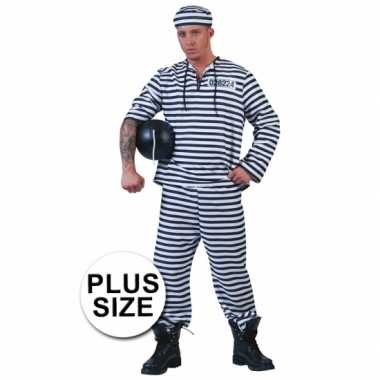Grote maten gevangene kostuum