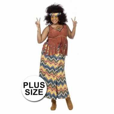 Grote maten hippie kostuum dames