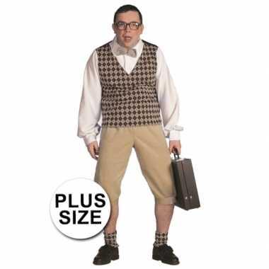 Grote maten nerd kostuum heren