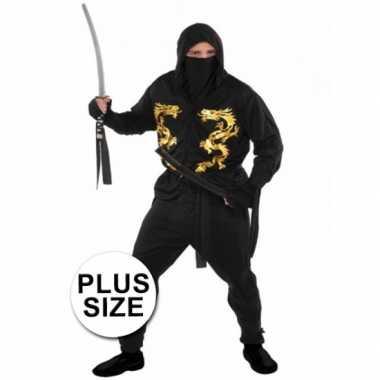 Grote maten ninja kostuum heren