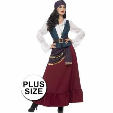 Grote maten piraten kostuum dames