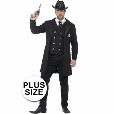 Grote maten sheriff kostuum heren