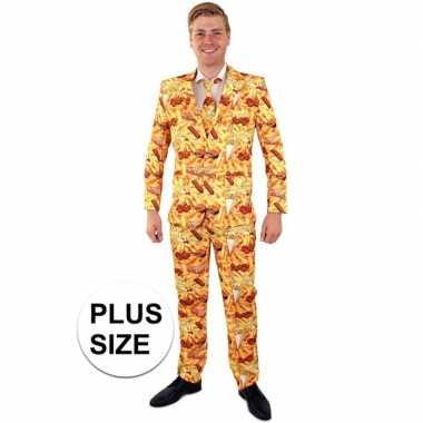 Grote maten snackbar thema heren kostuum
