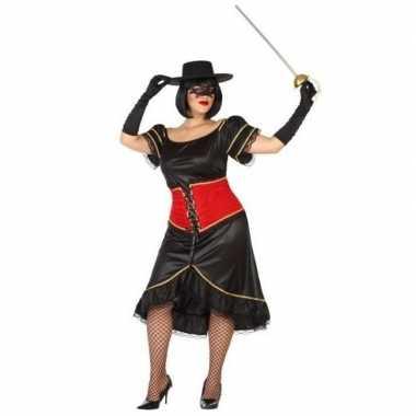 Grote maten spaanse gemaskerde dames verkleed kostuum dames