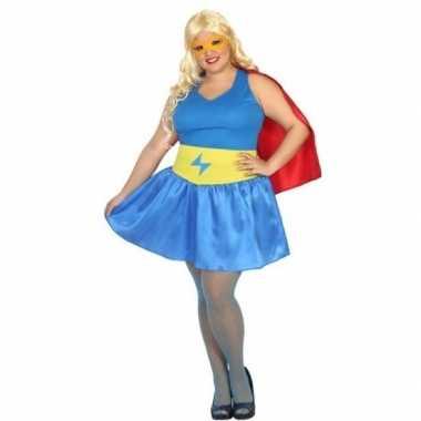 Grote maten supergirl kostuum/jurk dames