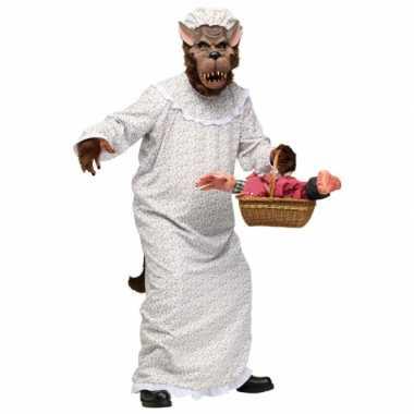 Halloween grote boze wolf kostuum volwassenen