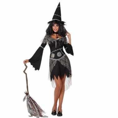 Halloween halloween zwarte heksen kostuum dames