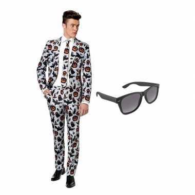 Halloween heren kostuum maat 46 (s) gratis zonnebril