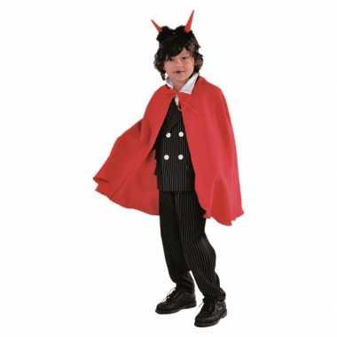 Halloween kinder kostuum cape rood