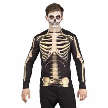 Halloween shirt skelet kostuum heren