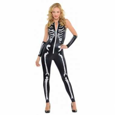 Halloween skelet kostuum dames