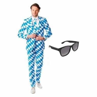 Heren kostuum beierse maat 50 (l) gratis zonnebr