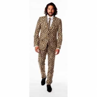 Heren kostuum luipaard