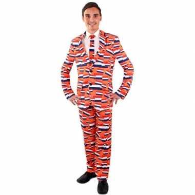Heren kostuum oranje vlag nederland heren