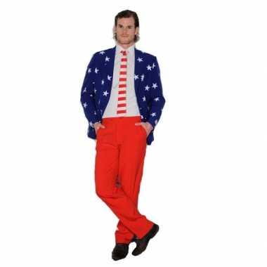 Heren kostuum USA vlag