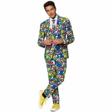 Heren verkleed pak/kostuum super mario