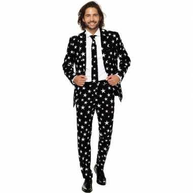 Heren verkleed pak/kostuum zwart sterren