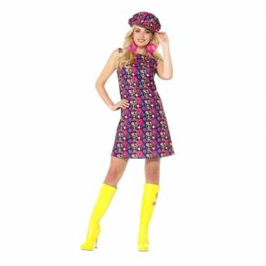 Hippie peace sixties kostuum dames