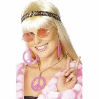 Hippie sieraden peace kostuum