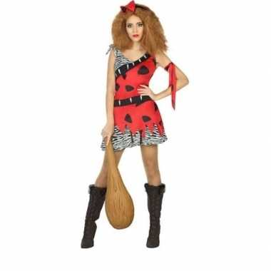 Holbewoonster/cavewoman loana verkleed kostuum/jurk dames