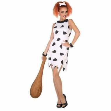Holbewoonster/cavewoman wilma verkleed kostuum/jurk dames