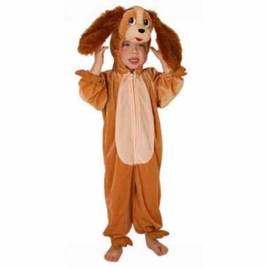 Honden kostuum bruin