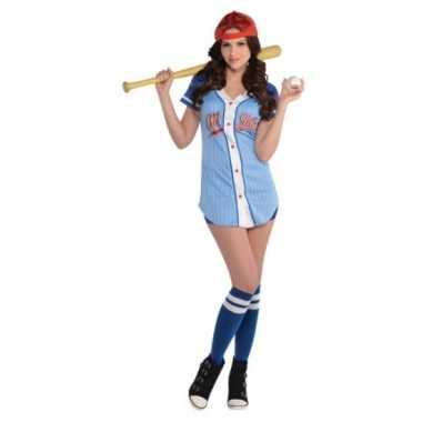 Honkbalspeler kostuum dames