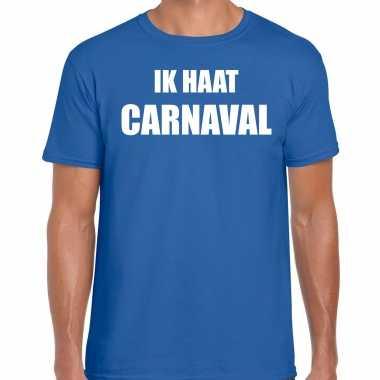Ik haat carnaval verkleed t shirt / kostuum blauw heren