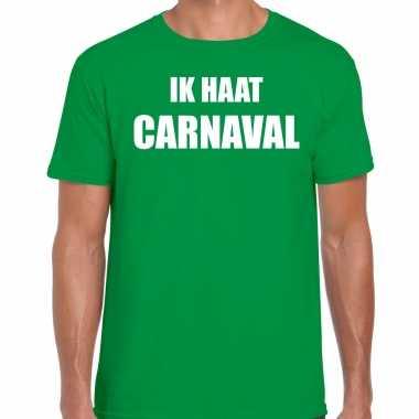 Ik haat carnaval verkleed t shirt / kostuum groen heren