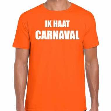 Ik haat carnaval verkleed t shirt / kostuum oranje heren
