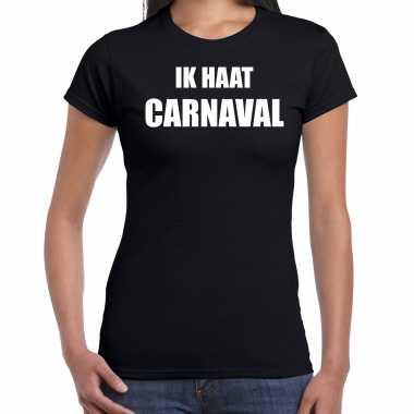 Ik haat carnaval verkleed t shirt / kostuum zwart dames