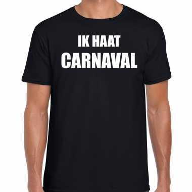 Ik haat carnaval verkleed t shirt / kostuum zwart heren