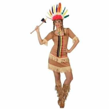 Indianen manipi verkleed jurkje/kostuum dames
