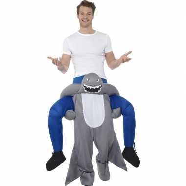Instap dierenpak kostuum haai volwassenen