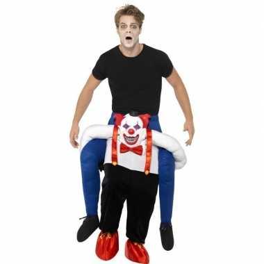 Instapkostuum enge halloween clown volwassenen