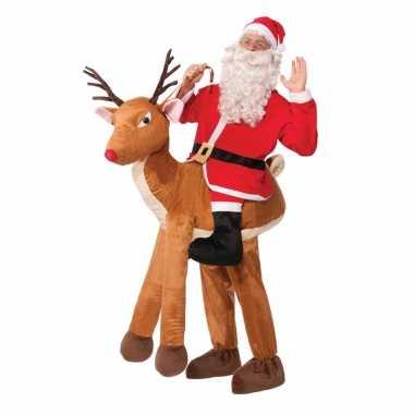 Instapkostuum kerstman rendier volwassenen