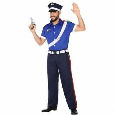 Italiaanse politie verkleed pak/kostuum volwassenen