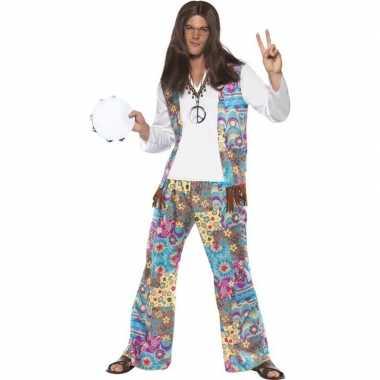 Jaren 60 hippie kostuum groovy heren