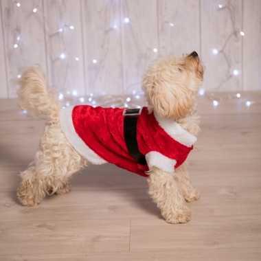Kerstman kostuum hond