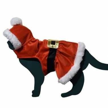 Kerstman pakje kostuum kat/poes