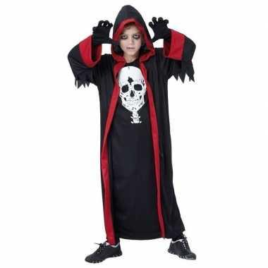 Kinder dracula kostuum zwart rood