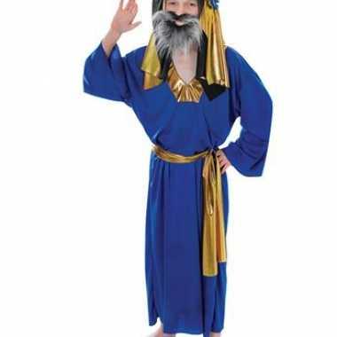 Kinder kerst kostuum blauw Drie Koningen