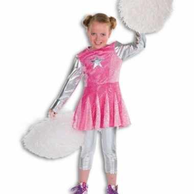 Kinderen cheerleader kostuum roze