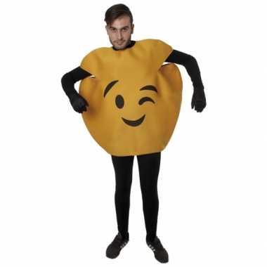 Knipoog emoticon kostuum volwassenen