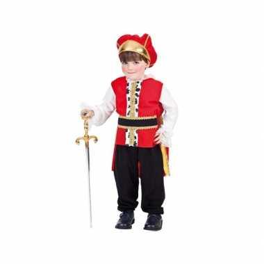 Koning kostuum peuter