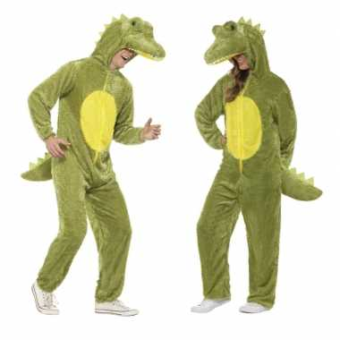 Krokodil onesie kostuum volwassenen